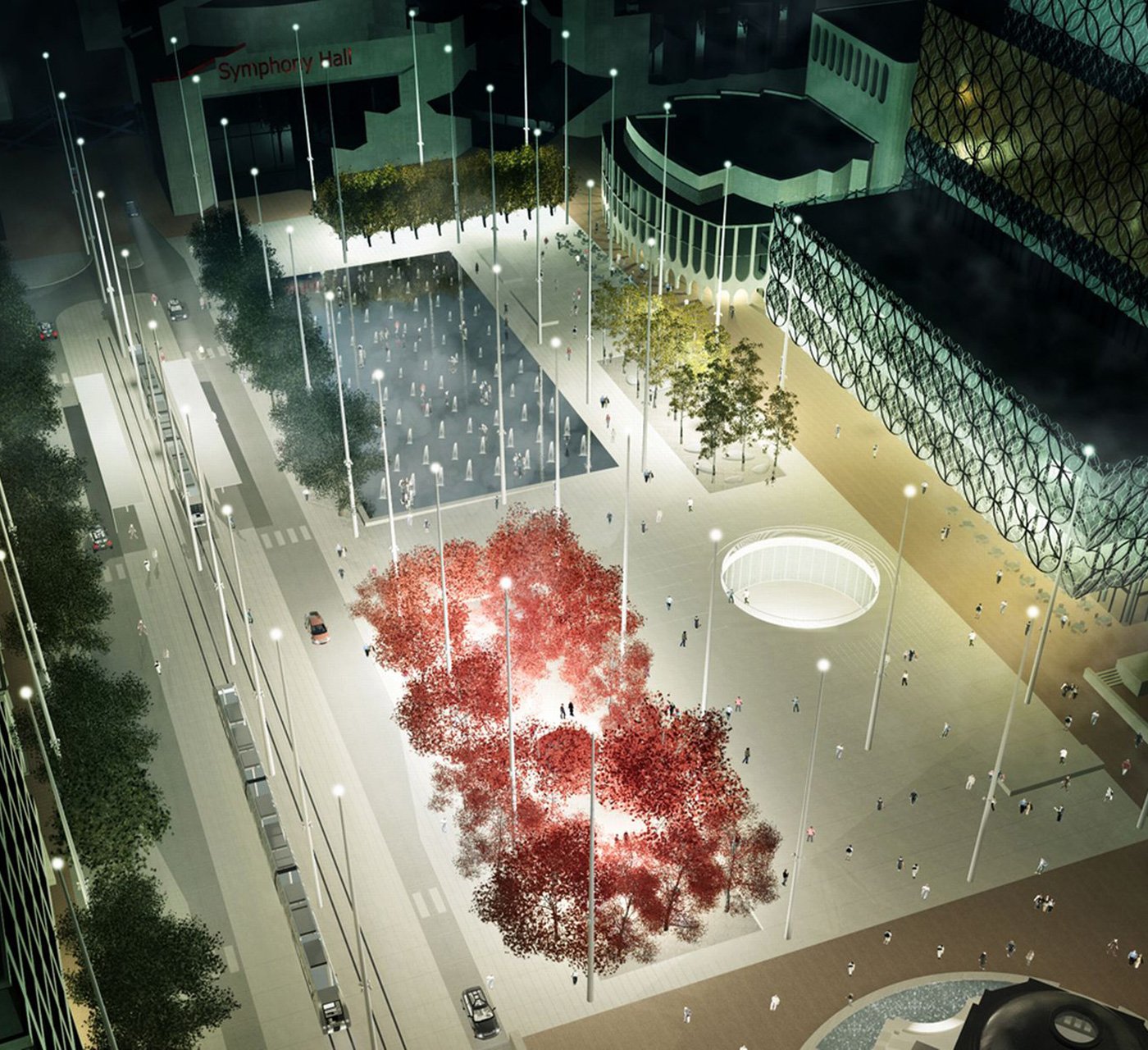 Design concept of public square
